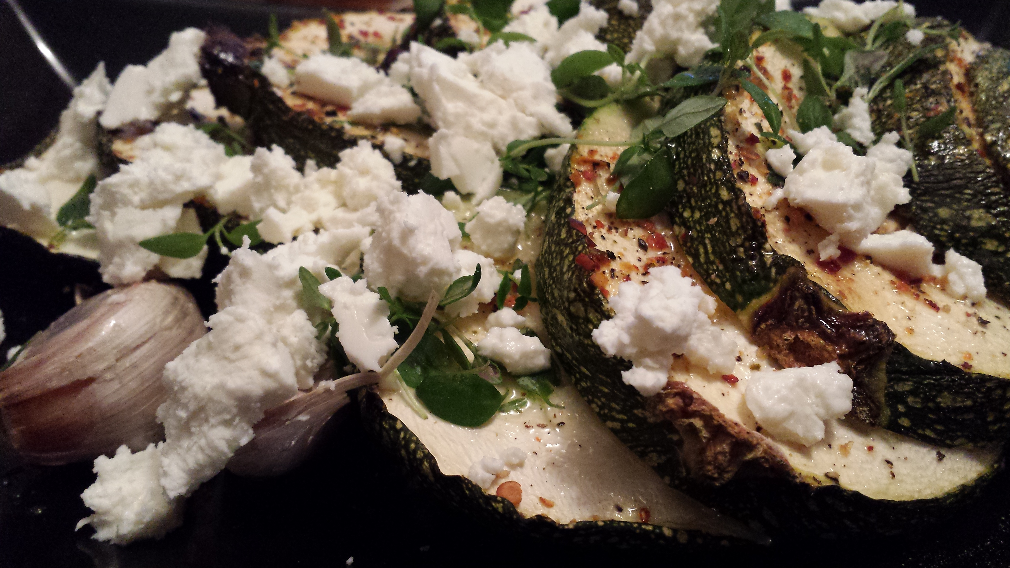 Roasted Courgettes