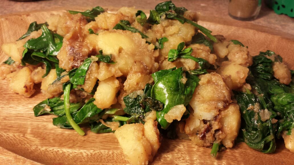 Spiced Potatoes And Spinach