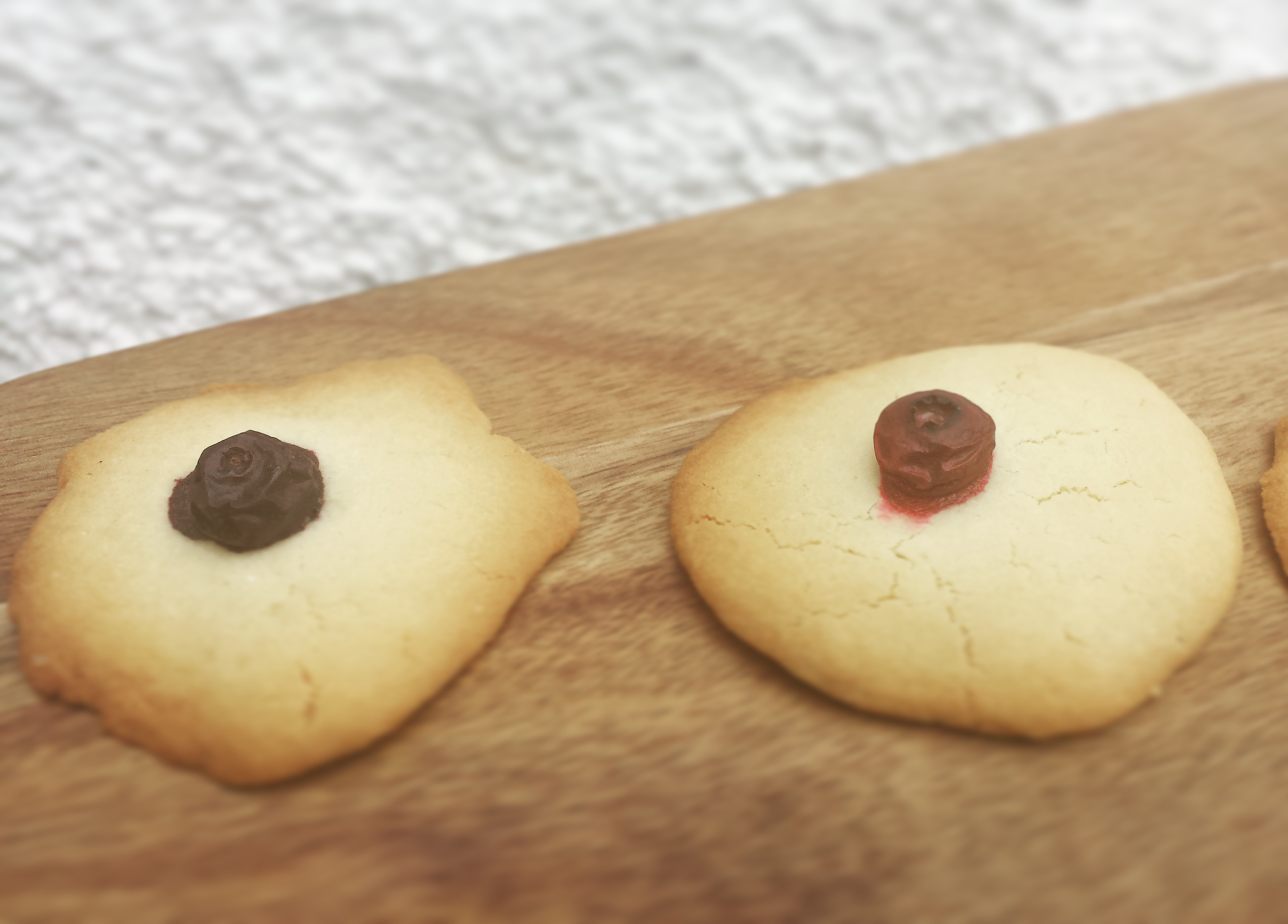 GF Vanilla and Blueberry Cookies