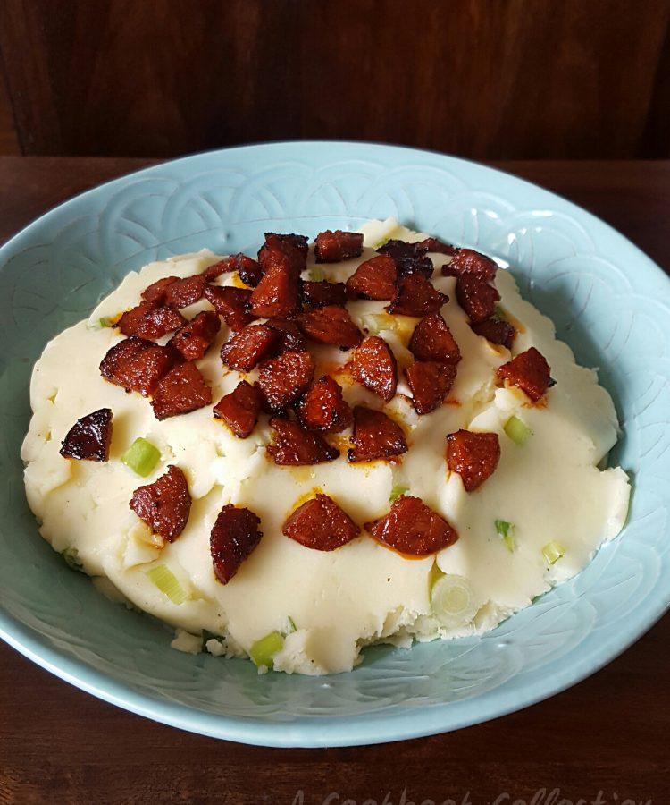 Creamy Mashed Potato and Chorizo Salad -A Cookbook Collection