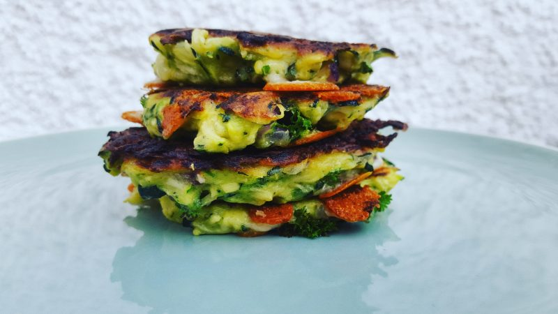 Feta And Courgette Fritters