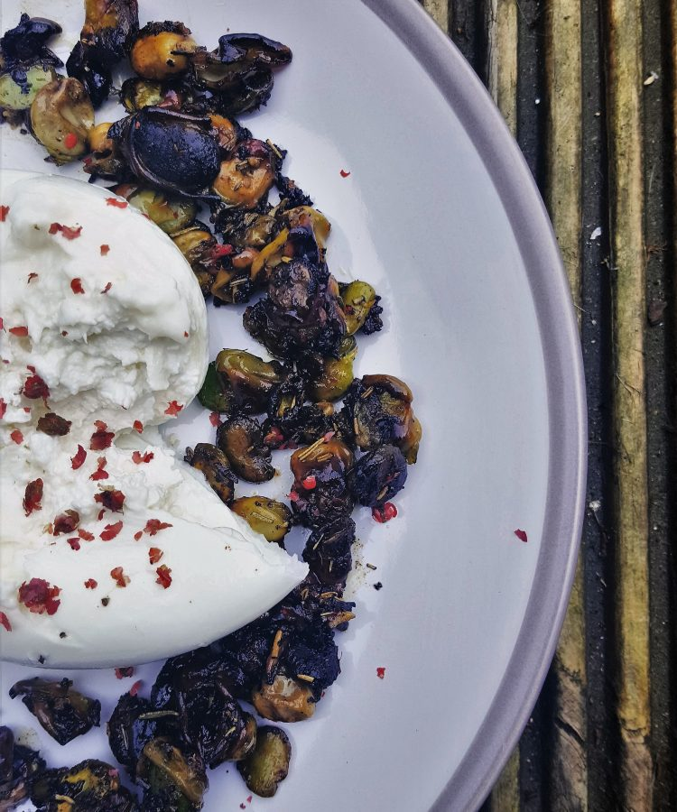 Burratta and broad beans recipe