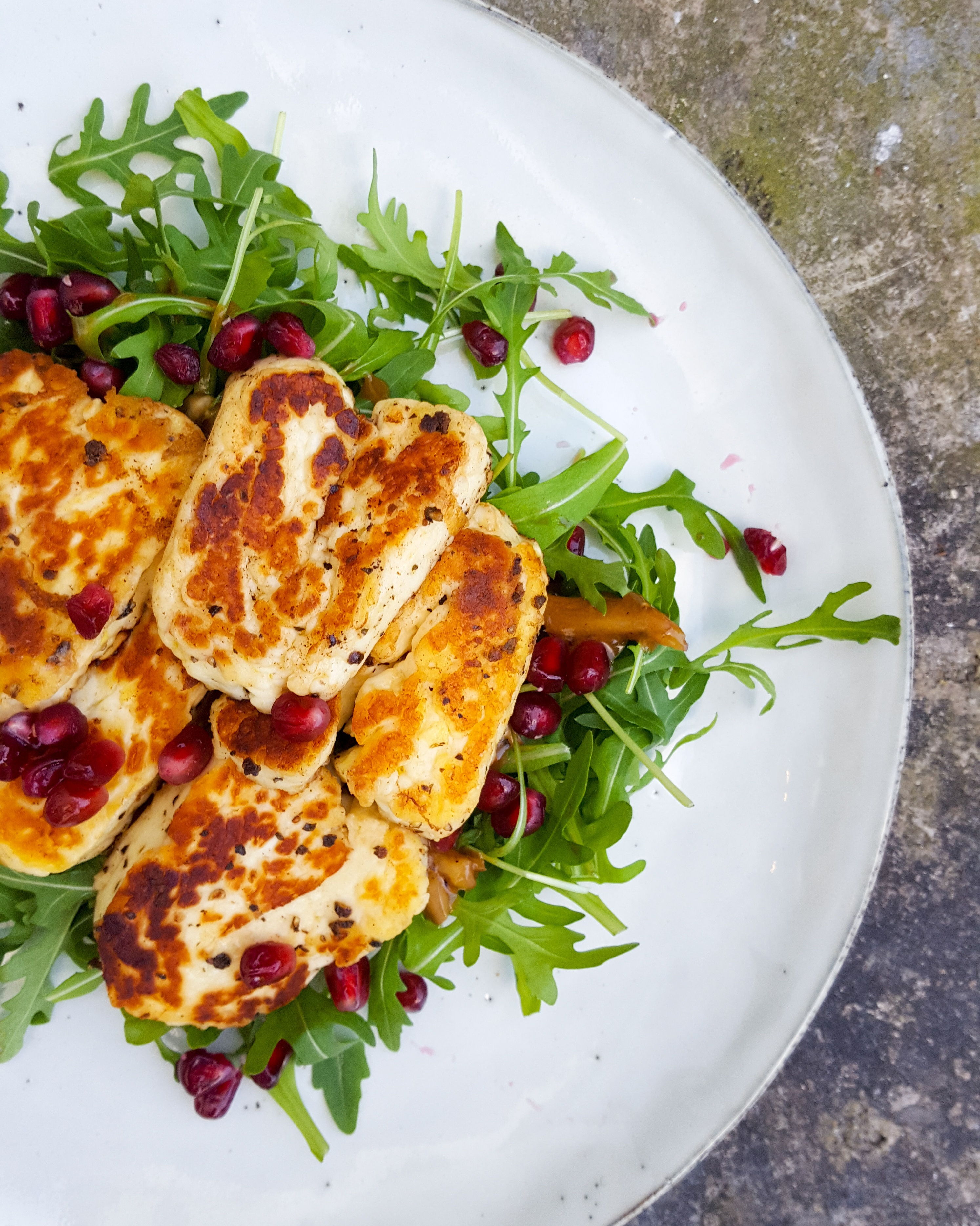 Warm Halloumi Salad Recipe – Persian Style