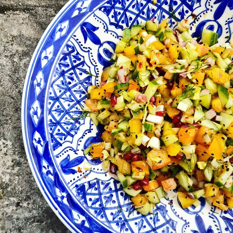 Indian Style Salad Recipe Inspired By Meera Sodha