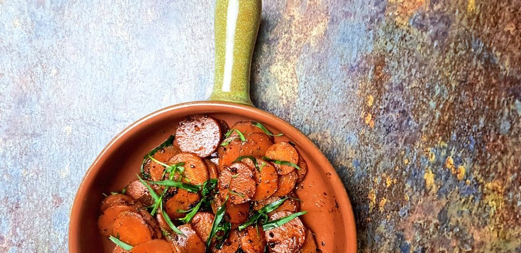 Carrots With Miso Butter And Tarragon