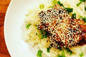 Sticky Spicy Garlic Chicken Recipe