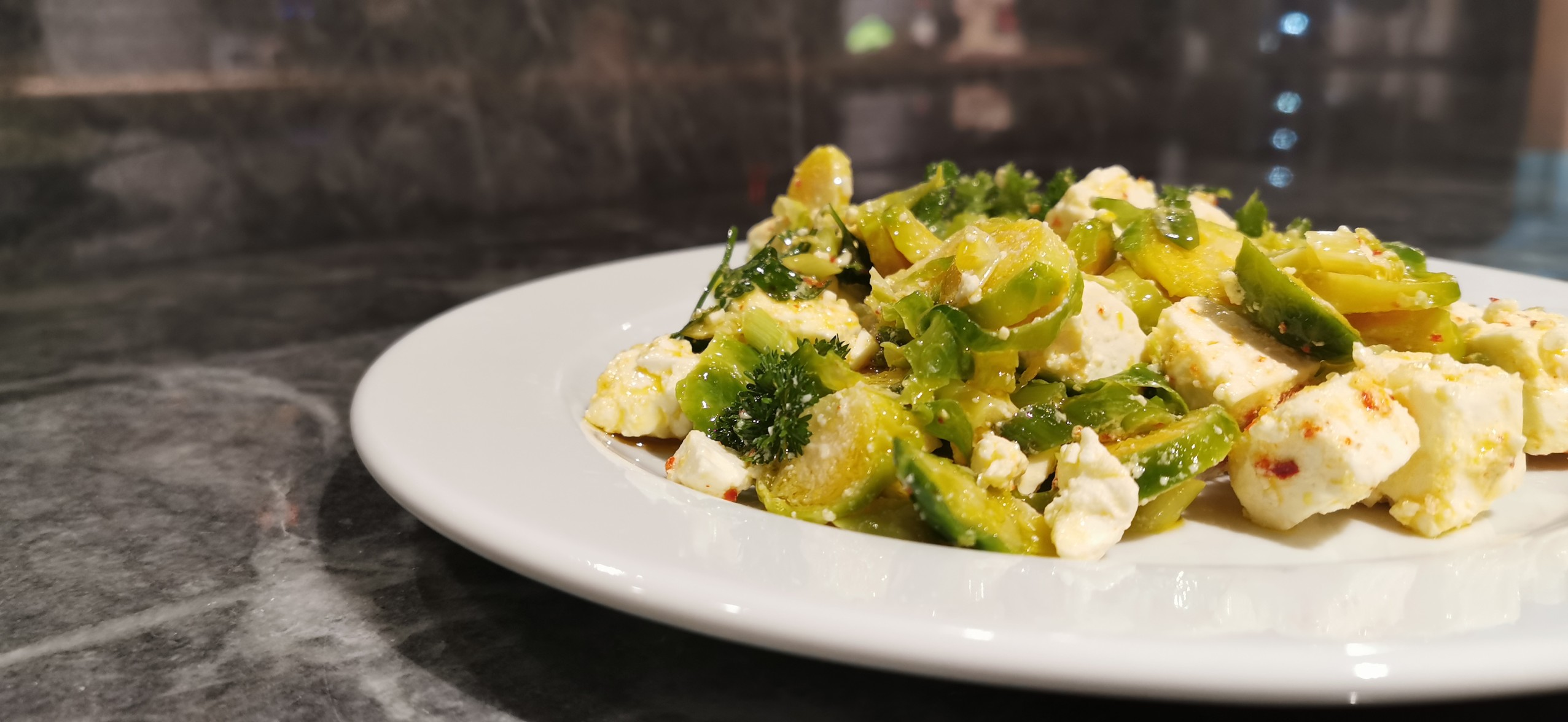 Brussel Sprouts And Feta Salad
