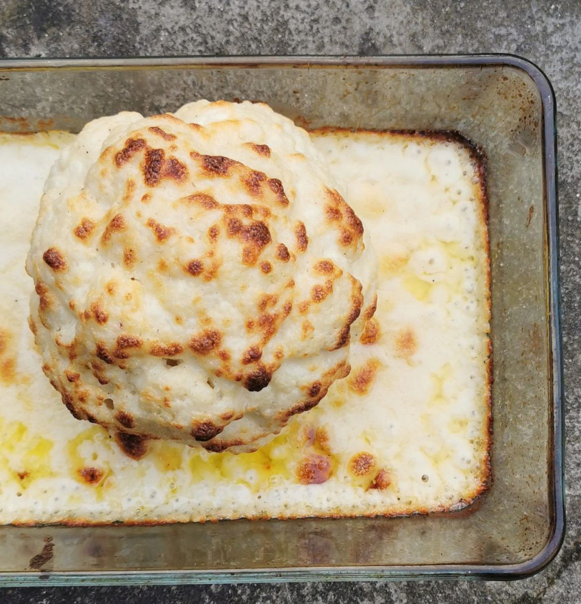 WHOLE CAULIFLOWER BAKED IN SMOKED GUBBEEN BECHAMEL
